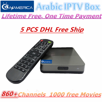 5 Pieces Mars Arabic IPTV Box,860 Live tv + 1000 Movies Free forever , Free Shipping