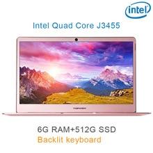 "P9-04 Rose gold 6G RAM 512G SSD Intel Celeron J3455 17 Gaming laptop notebook desktop computer with Backlit keyboard"""