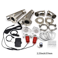 2 25 57MM 2Sets Electric Stainless Exhaust Control Valve With Remote Control One Remote Control Two
