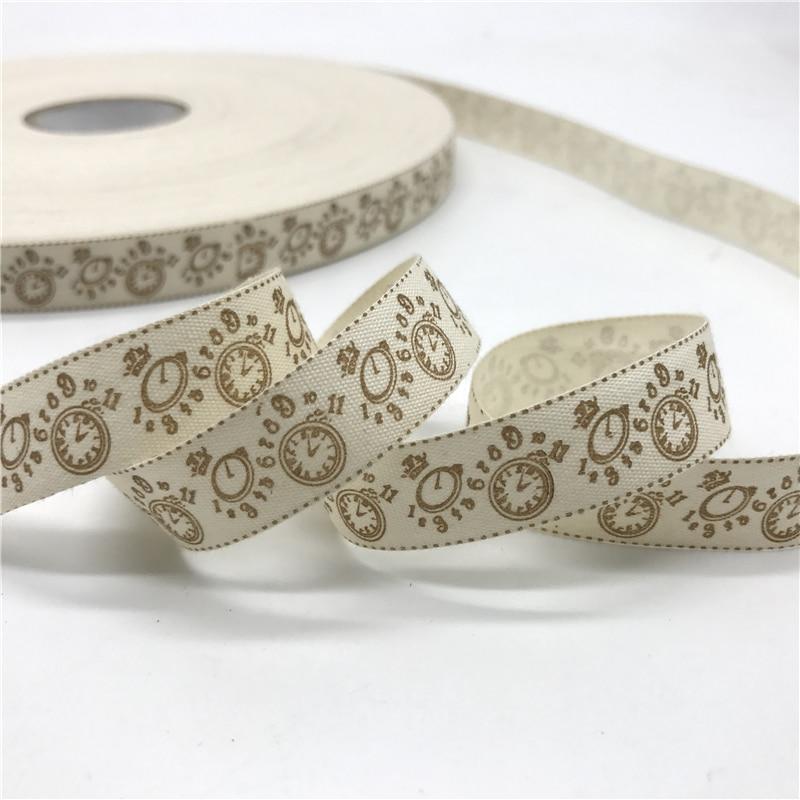 5 ярдов/лот 15 мм хлопчатобумажная лента ручной работы дизайн печатные хлопковые ленты для свадьбы Рождественское украшение DIY швейная ткань - Цвет: 06