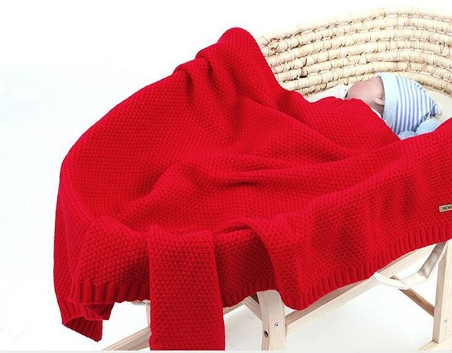MOTOHOOD Kids Blanket Casual Baby Blankets Knitted Newborn Swaddle Wrap Soft Toddler Sofa Crib Quilt Baby Stroller Blanket (10)