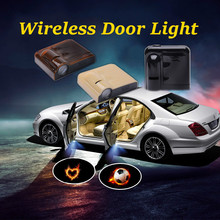 For Mitsubishi 2pcs  Wireless Car Door Logo Ghost Shadow Welcome Light Auto LED Projector Logo Light Free Shipping free shipping compact 10w led sports logo light design image gobo projector custom pattern hall door wall welcome lights fixture