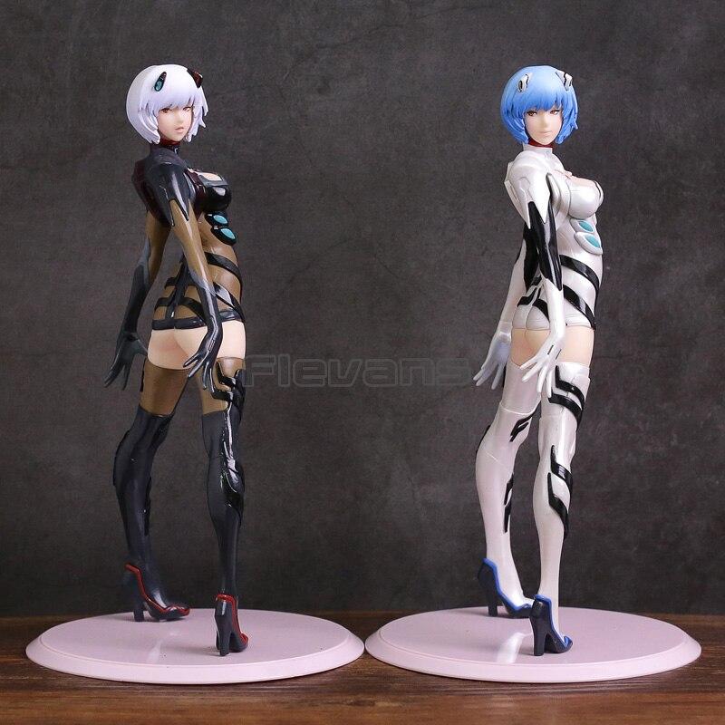 ЕВА перестроить Евангелиона Ayanami Rei ПВХ Рисунок Коллекционная модель игрушки черный/белый