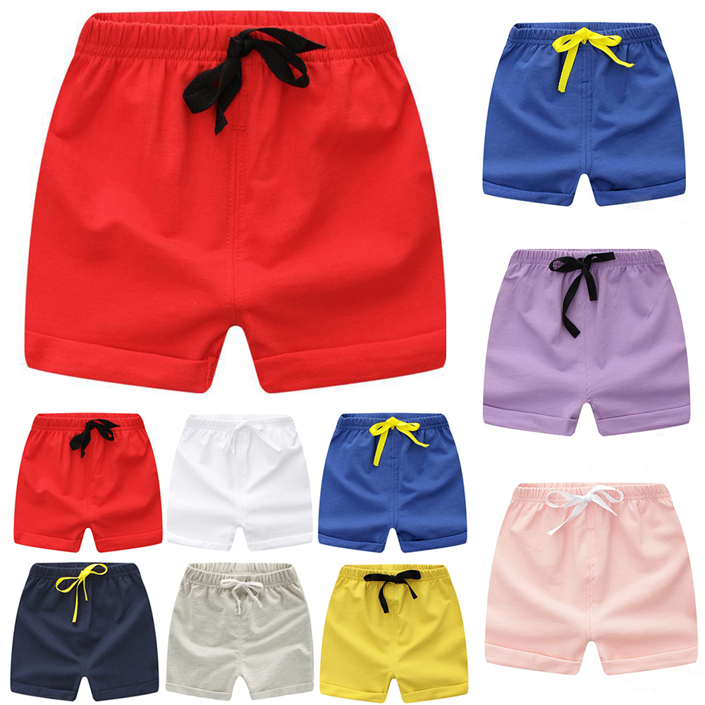Kids   Shorts   Summer Swimming Wear Beach   Short   Candy Color 0-5Y Children Girls Boys Pants Jersey Clothes A100 Toddler Sport Wear