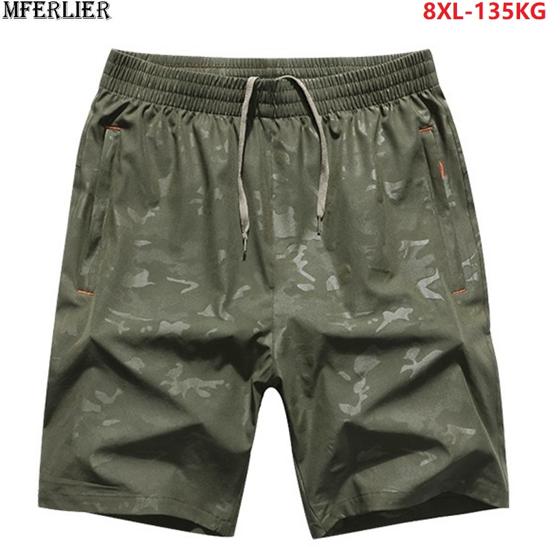plus big size 6XL 7XL 8XL Quick dry   board     Shorts   camouflage Mens summer large   Shorts   sportwear black   Shorts   54 56 58 loose green