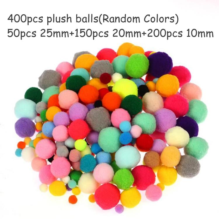 Плюшевая палочка/помпоны радужных цветов Shilly-Stick Обучающие DIY игрушки ручной работы художественное ремесло творчество devolooping игрушки GYH - Цвет: 400pompoms