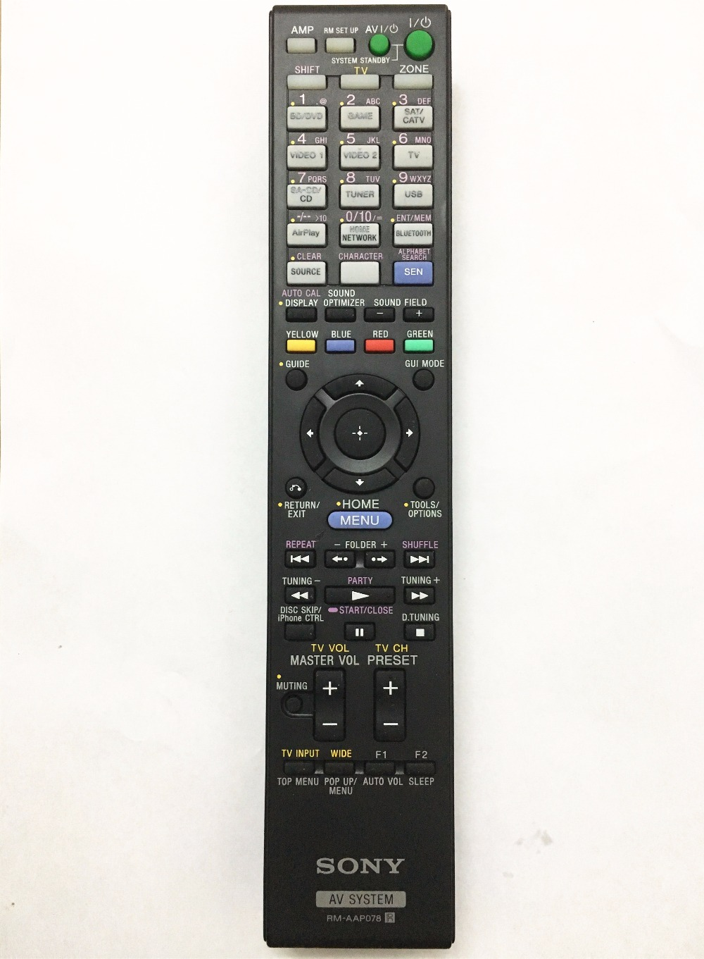 Original remote control RM-AAP078 for SONY amplifiers STR-DN1030 chunghop rm l7 multifunctional learning remote control silver