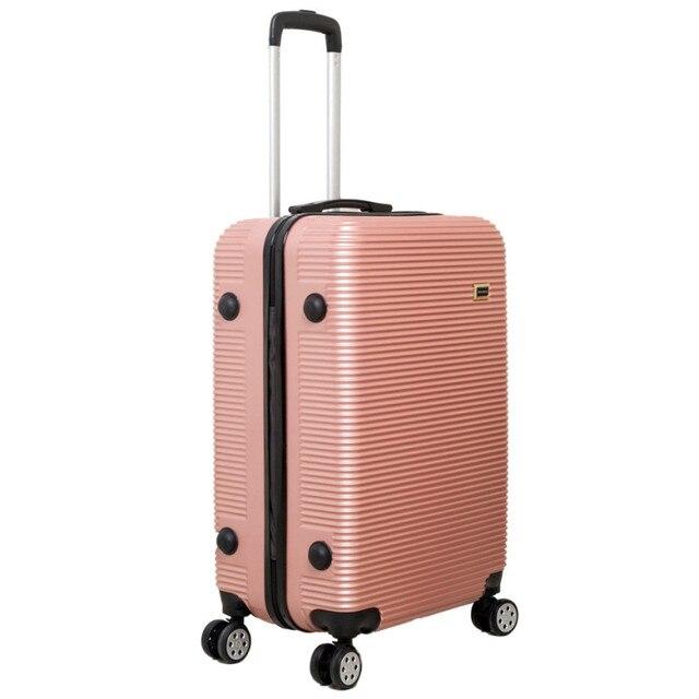 ABS + PC Bagagem trole espelho caso, 24 polegada Coreano mala de viagem do trole, a senha do cofre, masculino mala roda universal caixa de embarque