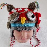 Kızlar için sevimli Yenilik Tığ Yün Yenidoğan Bebek Şapka Çocuk Noel için kış Sıcak El Yapımı Örme Bebek Şapka ve Kapaklar hediye
