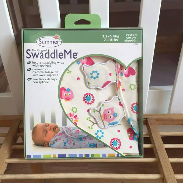 Free shipping New Summer SwaddleMe newborn swaddle 100%cotton super soft suit for 0-3 month baby sleeping bag size 50X73X39cm