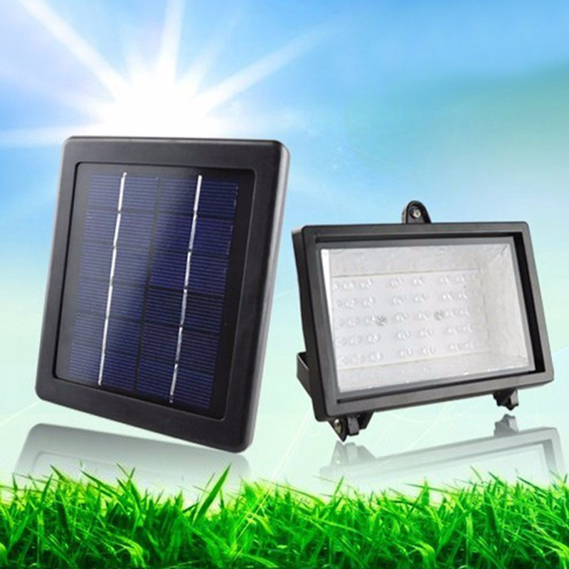 TAMPROAD Outdoor Solar Powered Flood Light 40 LED Spotlight Lamp Waterproof Garden Pool Fountain Floodlight for