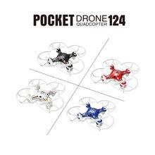 Мини Drone FQ777-124 Карман Drone БПЛА Quadcopter С Отключаемым Контроллер RTF 4CH 6 Оси Гироскопа RC мини-Вертолет drone