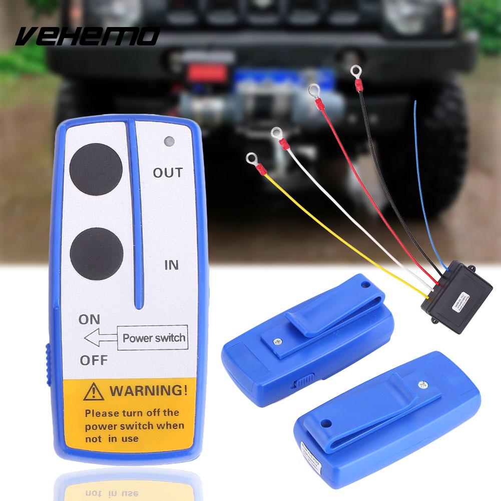 Auto Car Vehicle Wireless Electric Winch Controller with Remote Control