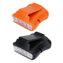 5LED Clip Cap ABS Yellow and Black Light Outdoor Camping Hiking Fishing Head Light for Cycling Outdoors