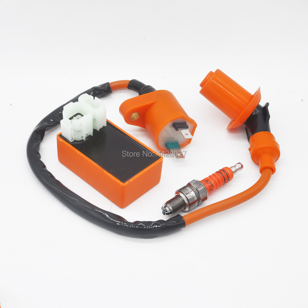 Racing Ignition Coil Spark Plug Cdi Air Filter For Gy6 Scooter Go