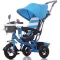 Multifuncional bicicleta de tres ruedas para niños de 1-3 años de edad del bebé cochecito de bebé bicicleta cesta
