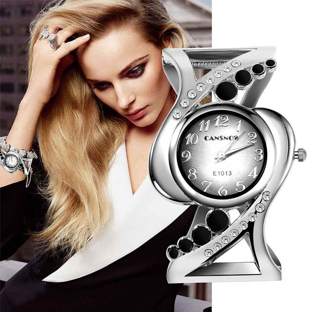 Luxury Rhinestone Watch Women Fashion Bracelet Watches Full Steel Women's Watche