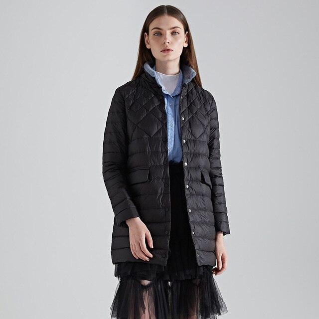low priced c026e 1201b Weibliche winter ente unten mantel 2018 frauen jacke plus größe warme damen  lange mit stand kragen