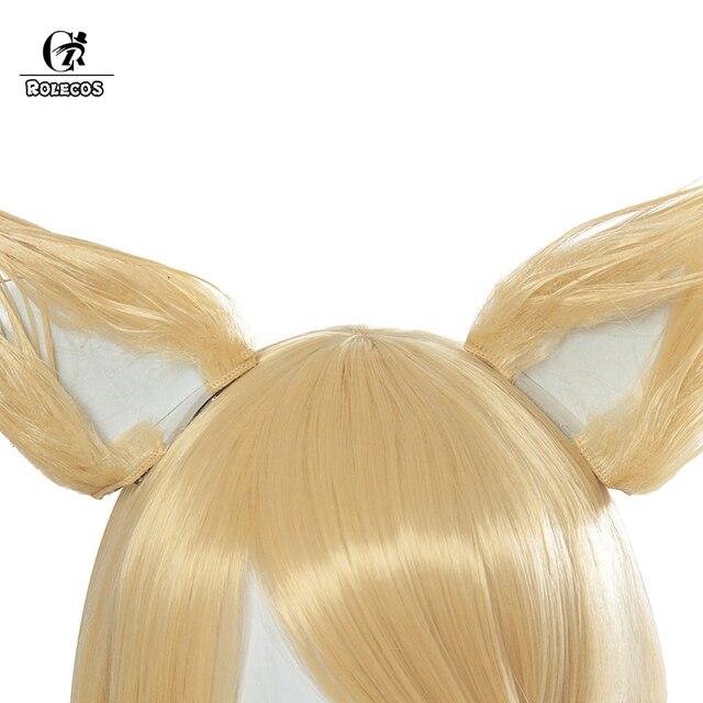 ROLECOS KDA Ahri Cosplay Hair LoL KDA Cosplay Headwear LOL KDA 90CM Yellow Long Women Hair Heat Resistant Synthetic Hair Perucas 3