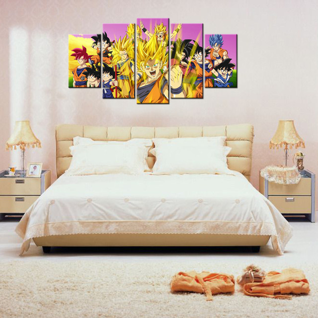 Online-Shop 5 Stück Dragon Ball Z Poster Bild Leinwand Wand Decor ...