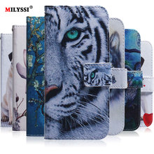 PU Leather Flip Case For Xiaomi Redmi Note 6 8 Pro Phone 7 GO Wallet Cover Painted