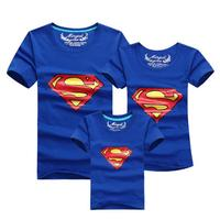 Superman Family Matching Outfits T Shirt Clothes For Dad Mon Daughter And Son 2015 Summer Father
