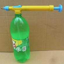Водяной пистолет в игрушечных пистолетах бутылка для напитков интерфейс пластиковая тележка пистолет распылитель головка давления воды уличный Забавный спортивный