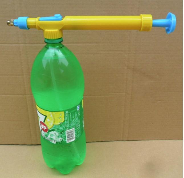 Water Guns In Toy Guns Beverage Bottle Interface Plastic Trolley Guns Sprayer Head Water Pressure Outdoor Funny Sports