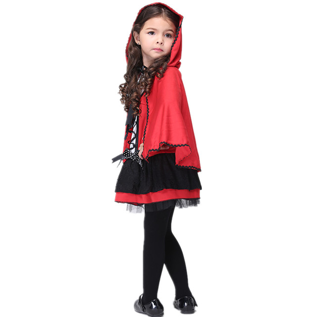 Online Shop Halloween Costumes Little Red Riding Hood Costume Kids ...