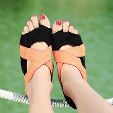 Women Professional Yoga Pilates Training Shoes Lady Fitness Soft Body shaping shoes Girl Aerial Bandage Open Toe Beach Shoe