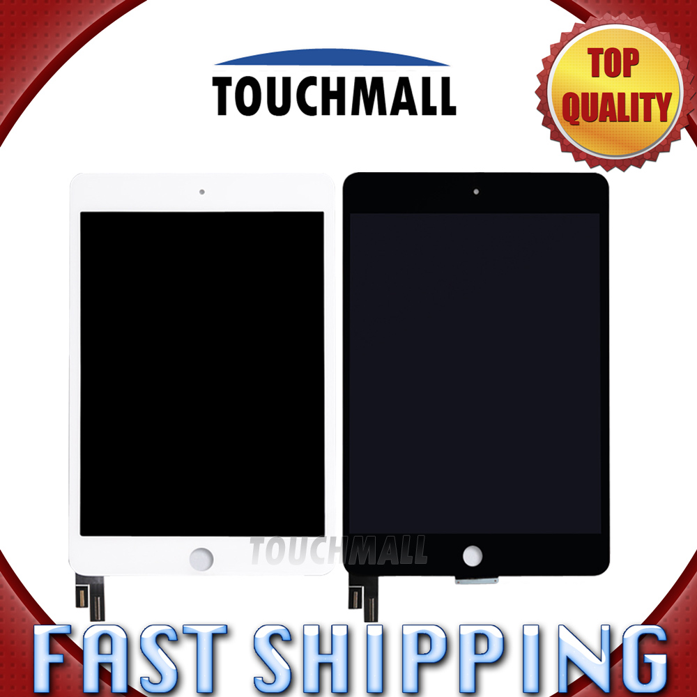 For New LCD Display Touch Screen Assembly Replacement iPad Mini 4 A1538 A1550 Black White Free Shipping brand new lcd screen retina display replacement for ipad mini 3 3rd generation