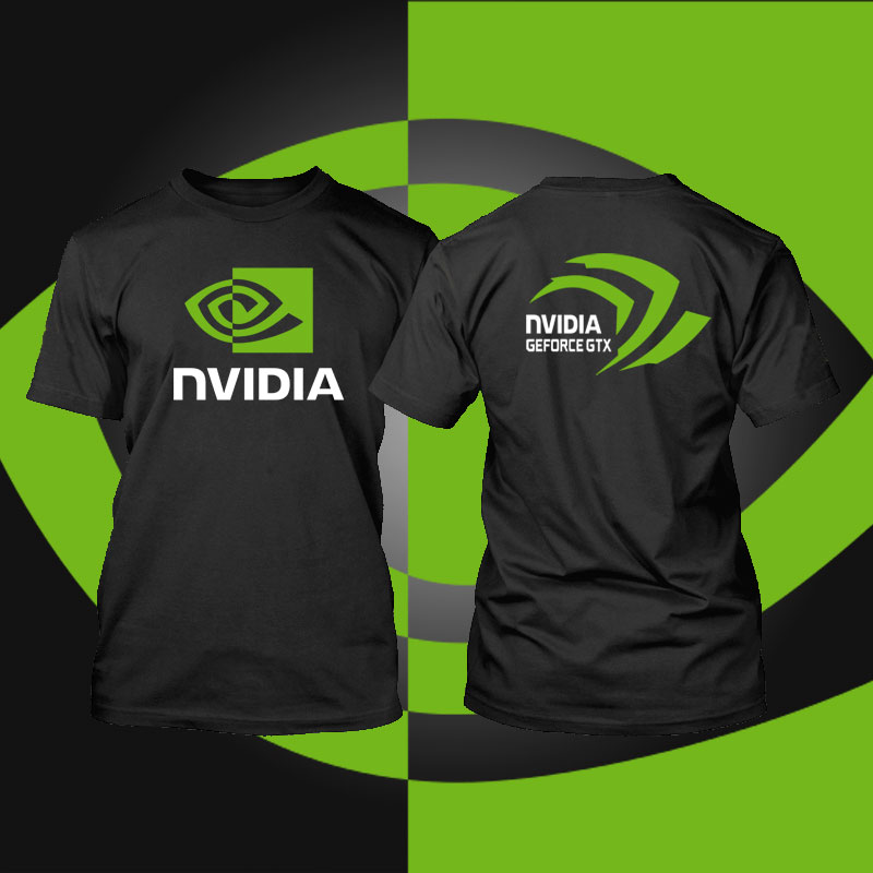 intel Nvidia Men   t     shirt   Geforce GTX game men   T  -  shirt   camisetas Computer Peripherals fashion novelty