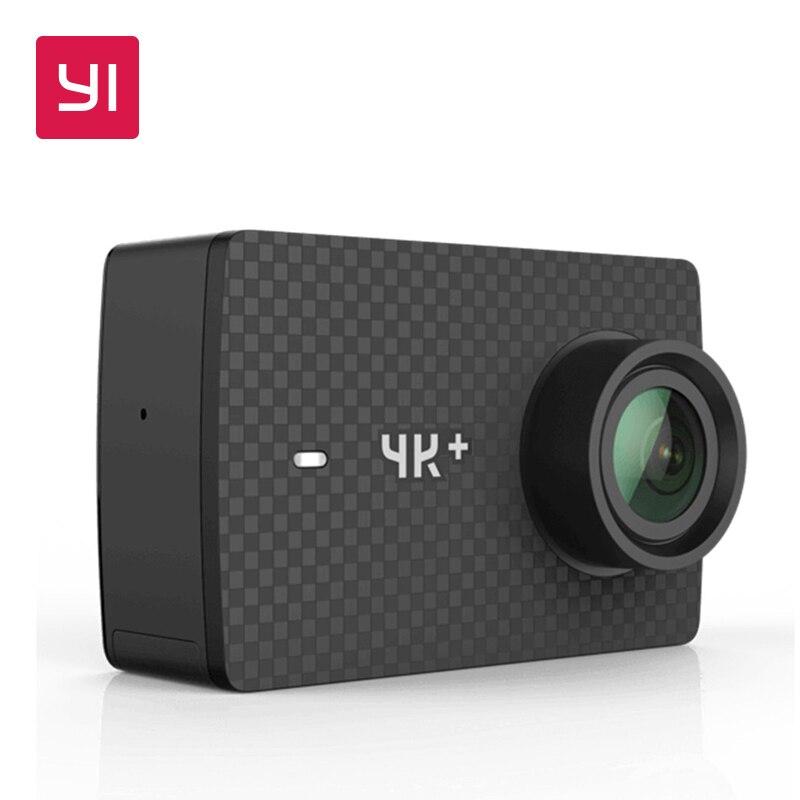 YI 4 k + (Plus) camera Action International Version Extérieure Et Intérieure Sport PREMIÈRE 4 k/60fps Amba H2 SOC IMX377 12MP 2.2 PMA WIFI