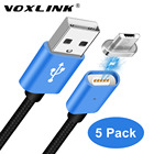 5Pack VOXLINK 2.4A LED Magnetic Cable 1M Micro USB Cable Magnet Fast Charging Data Cable For Samsung S6 Huawei P8 Xiaomi 4X