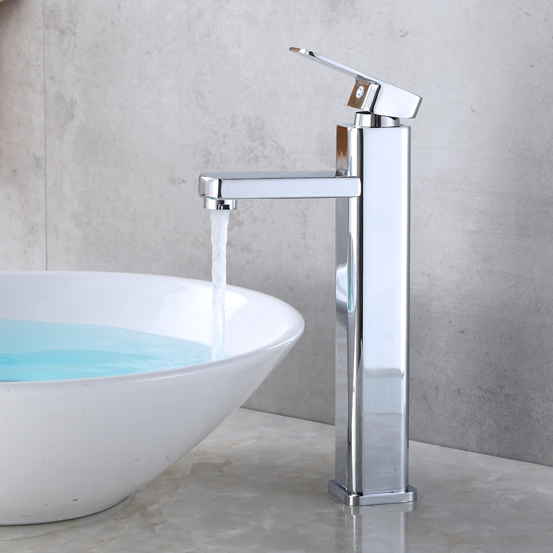 high plating Quartet single hole hot and cold water faucet stage basin mixed water bathroom wash