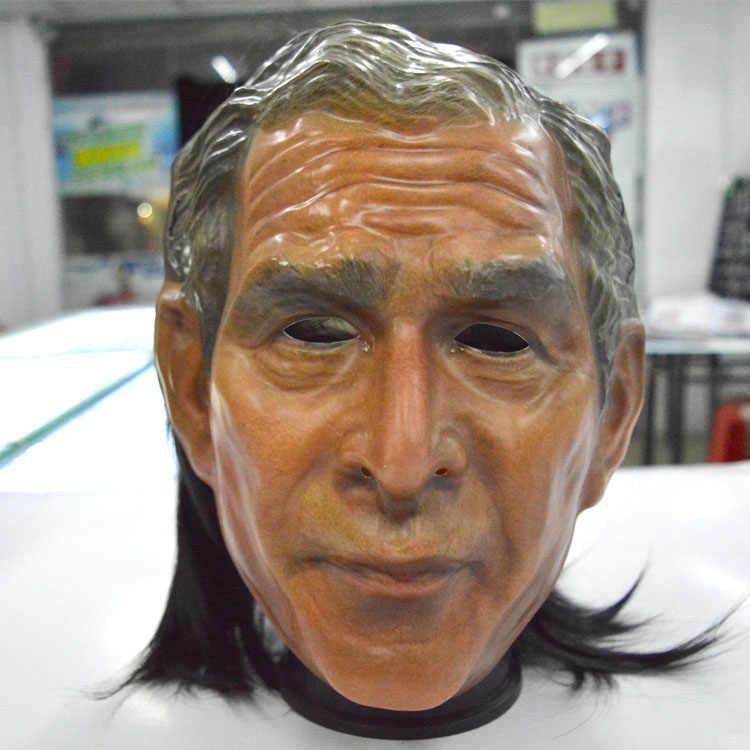 Хэллоуин, Рождественская вечеринка, косплей, маска с человеческим лицом, смешной известный Буш, латекс, маска на Хеллоуин вечерние президент США, маска на голову