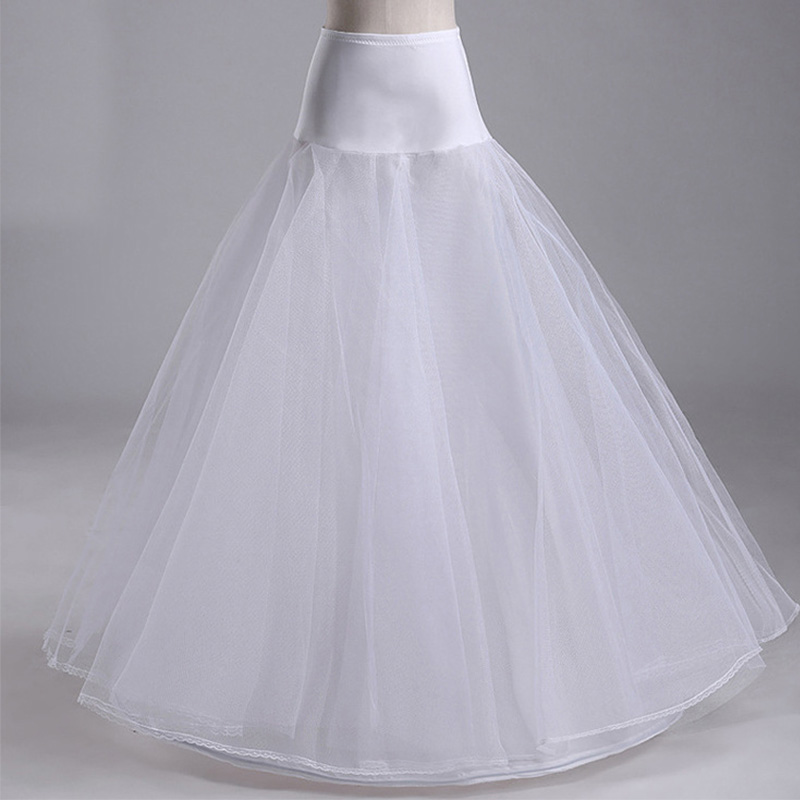 Best Selling High Quality A Line Tulle Wedding Bridal Petticoat White Black Underskirt Crinolines For Wedding Dresses Wholesale