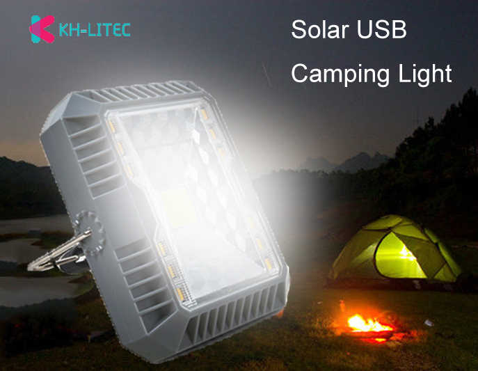 Portable Lanterns Camping Light  Solar USB Charging Flashlight Camping Tent Light Outdoor Portable Hanging Lamp Solar Led Lanter