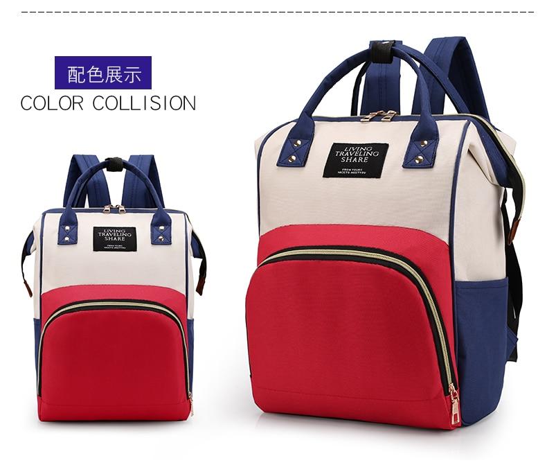 HTB1q.M9cECF3KVjSZJnq6znHFXay Large Capacity Mummy Bag Maternity Nappy Bag Travel Backpack Nursing Bag for Baby Care Women's Fashion Bag