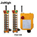 JoHigh поставка 14 кнопок AC 220V 380V DC 36V 24V промышленный пульт Дистанционного Управления Подъемный Кран 2 передатчика + 1 приемник