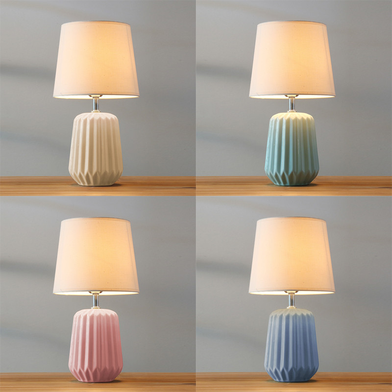 Modern Simple Nordic Ceramic Dimmer 45cm Table Lamp For