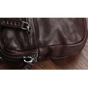 Image 3 - AETOO Bolso de cuero retro hecho a mano, primera capa de cartera de cuero, multitarjeta bolso de mano, Vintage, multiusos