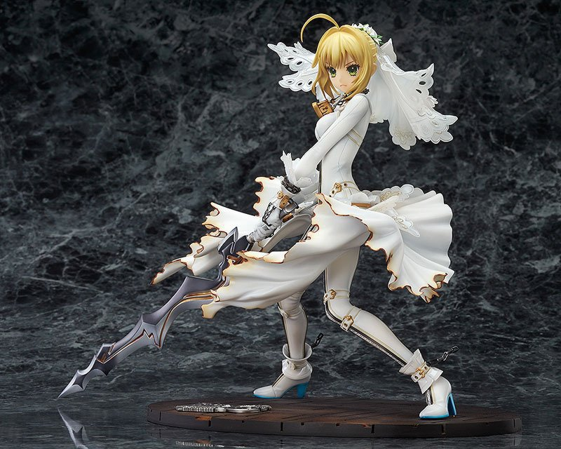 Saber Fate/Apocrypha Grand Order Nero Wedding dress Action Figure Game toys PVC 22CM Collection Model аниме футболки шляпы одежда a promise animation fate zero saber