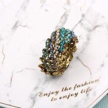 6pcs Alta qualidade blue diamond guardanapo anel de guardanapo fivela Ocidental liga de zinco hotel amostra anel de guardanapo anéis de guardanapo