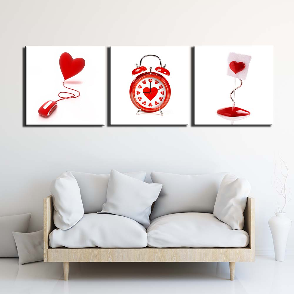 love still life Pictures Painting on Canvas Wall Art Modern Stretched and Framed Giclee Prints Poster for Living Room