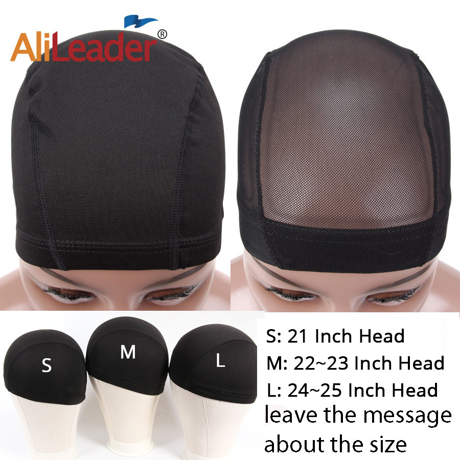 AliLeader Best Quality 1pc Black Hairnet Spandex Dome Cap for Making Wigs Snood Nylon Strech Glueless  Elastic Ultra Stretch