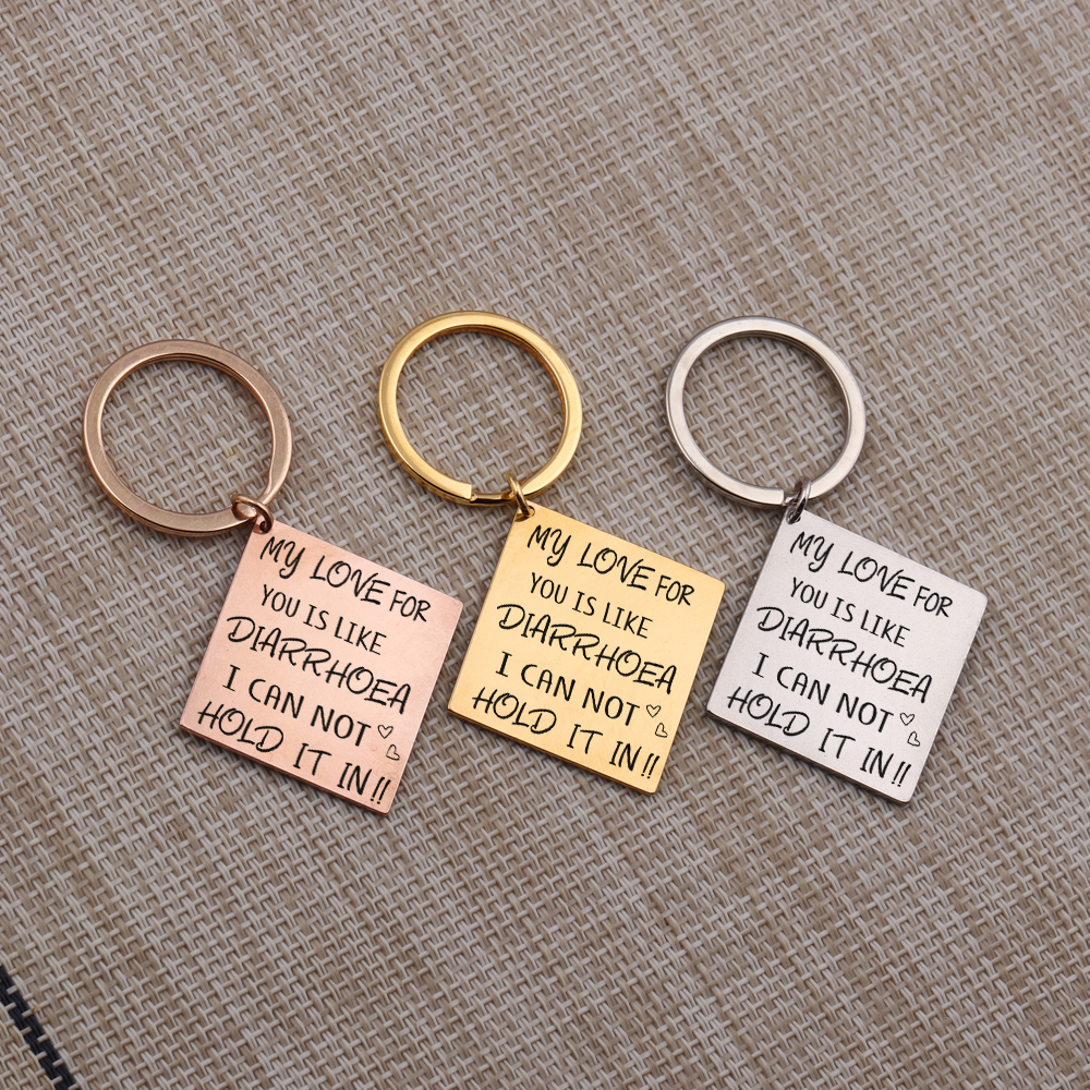 Funny Couple Keychain for Girlfriend Boyfriend Wife Husband Gifts I Love You Valentine/'s Day Birthday Anniversary Christmas Wedding Gift for Him Her Key Ring Tag Charm Pendant Jewelry