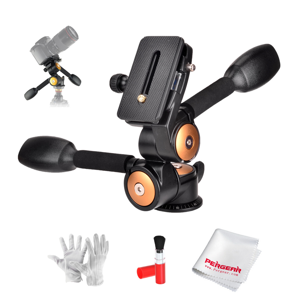 Load 20kg Camera Tripod Ball Head 3-way Panhead for Camera Video Tripod Monopod VCR Telephoto Lens + 3 in 1 Cleaning Kit (Gift аксессуар рекомендуем чистящее средство vanguard cleaning kit 3 in 1 ck3n1