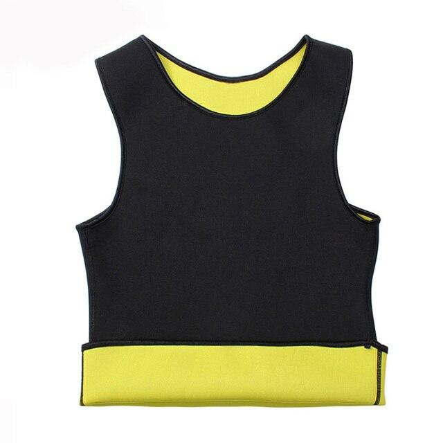 Body Slim Underwear Shaper Men Waist Trimmer  Tummy Control Shapewear Slimming Suits  Neoprene Sweat Vest for Weight Loss XXXXXL 5