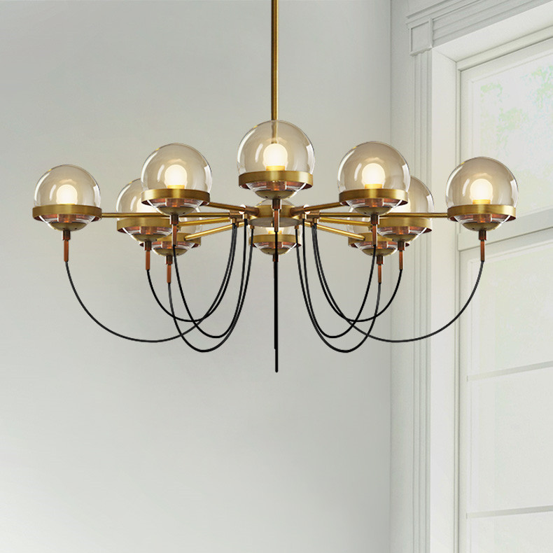 Us 183 28 25 Off Nordic Postmodern 5 8 10 Lights Designer Chandelier Lighting Modern Restaurant Gl Ball Bronze Chandeliers Living Room Res In